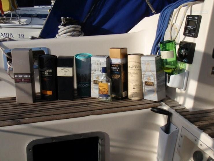 виски на яхте